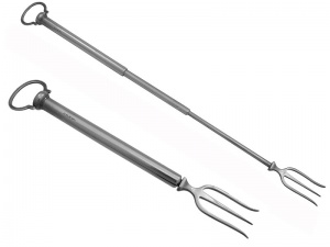 English Sterling Silver Toasting Fork 1923