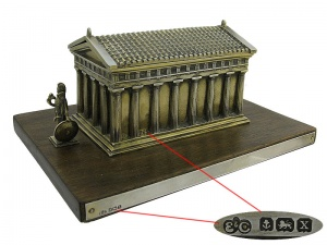 Silver Gilt Box The Parthenon 1922