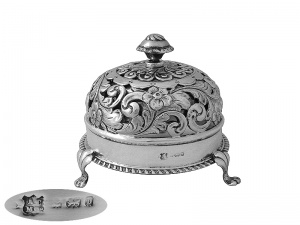 English Sterling Silver Bell  1901