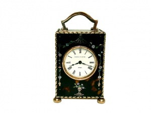 9Ct Gold And Mother of Pearl Clock  1907