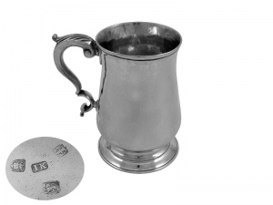 Georgian Silver Pint Mug 1781