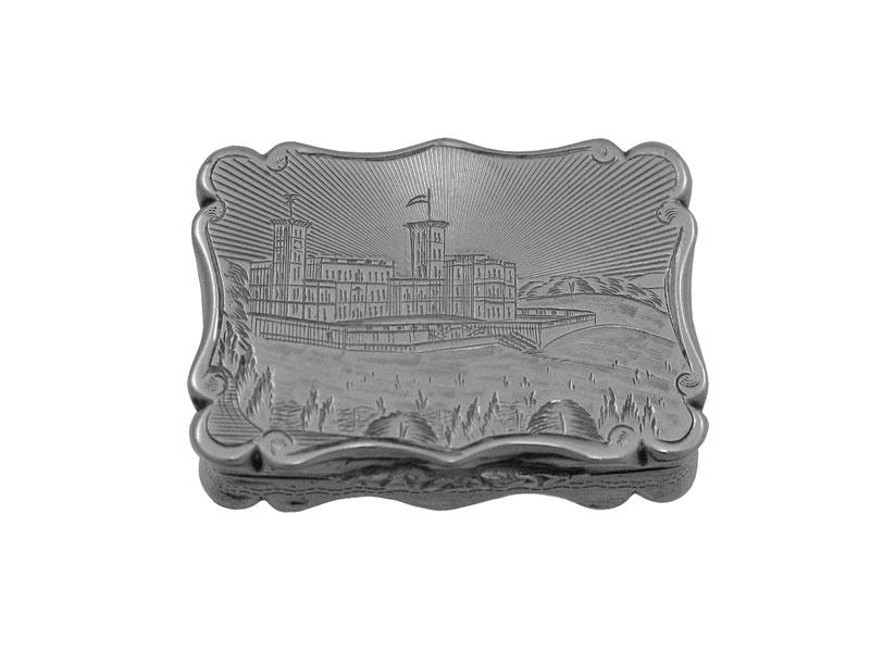 victorian silver castle top vinaigrette 1852