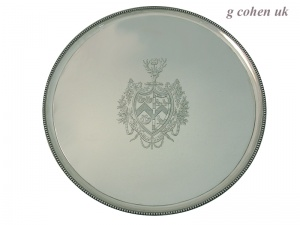 Georgian Silver Salver Hester Bateman London 1788