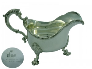 Sterling Silver Sauceboat 1912
