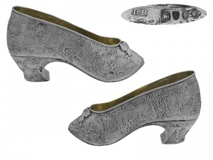 Sterling Silver Shoe  London 1895