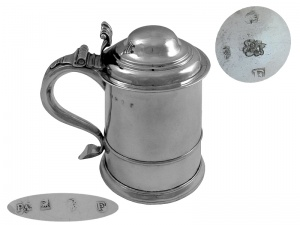 George I Silver Tankard London 1721