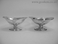Pair Oval Georgian Salts 1808