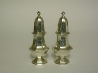 Pair Silver Pepper Pots 1931