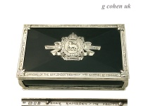 Sterling Silver Cigar Box Omar Ramsden 1926