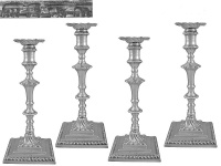 Set of 4 George III Candlesticks London 1767