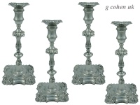 Set of 4 George III Candlesticks London 1761/2
