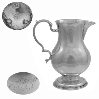 George II Silver Cream Jug 1730