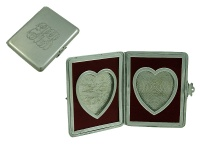 Double '' Heart '' Miniature Picture Frame 1895