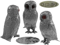 Victorian Silver Owl Pepper Pot 1862