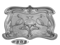 Art Nouveau Silver Pin Tray 1909
