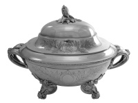 Victorian Silver Soup Tureen London 1873