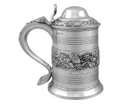 Georgian Silver Tankard and Cover 1820
