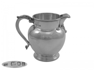 Sterling Silver Water Jug 1978