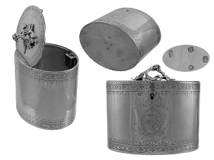 Georgian Silver Tea Caddy 1776