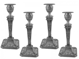 Set of 4 Sterling Silver Candlesticks 1929