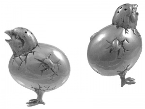 Victorian Silver Chick Pepper Pot 1885