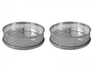 Pair Georgian Silver Coasters 1785