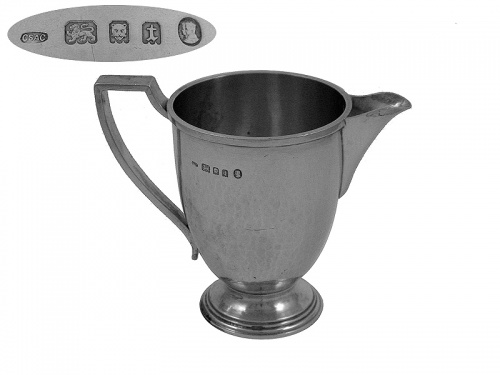Sterling Silver Cream Jug 1934