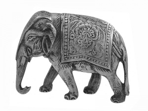 Indian Silver Model  Elephant C1900