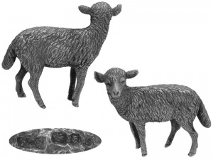 Sterling Silver Model  Lamb London 1973