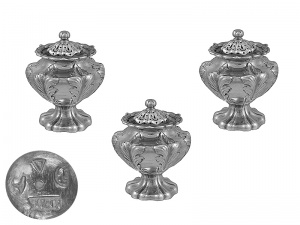 Set of 3 Indian Colonial Casters Circa 1860