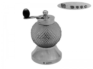 Victorian Silver  Pepper Mill 1886