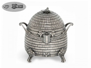 Swiss Silver Shooting Prize Honey Skep 1913