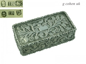 Georgian Silver Snuff Box 1827