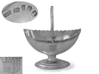 George III Silver Sugar Basket 1790