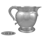 Sterling Silver Beer Jug 1933