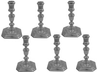 Set of 6 Cast Silver Candlesticks 1917