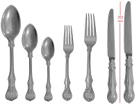 Victorian Cutlery Set for 12 1850