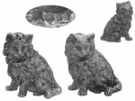 Sterling Silver Cat Salt & Pepper Pots 1973