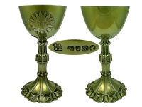 Pair of  Victorian Silver Chalices 1842