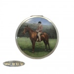 Silver and Enamel Horse   Compact 1933