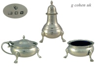 3 Piece Silver  Condiment Set 1932