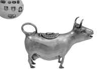Sterling Silver Cow Cream Jug 1925