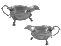 Pair George II Silver Sauceboats 1740