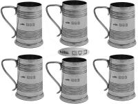 Set of 6 Silver Shot Cups 1906