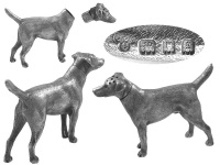 Sterling Silver Dog Pepper Pot 1922