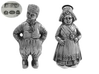 Pair of Dutch Boy&Girl Pepper Pots 1922