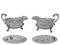 Pair George II Silver Sauceboats 1747