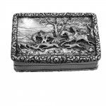 Antique Silver Hunting Snuff Box 1834