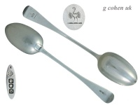 Pair Stuffing Spoons London 1897