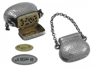 George  IV Silver  Bag Vinaigrette 1822